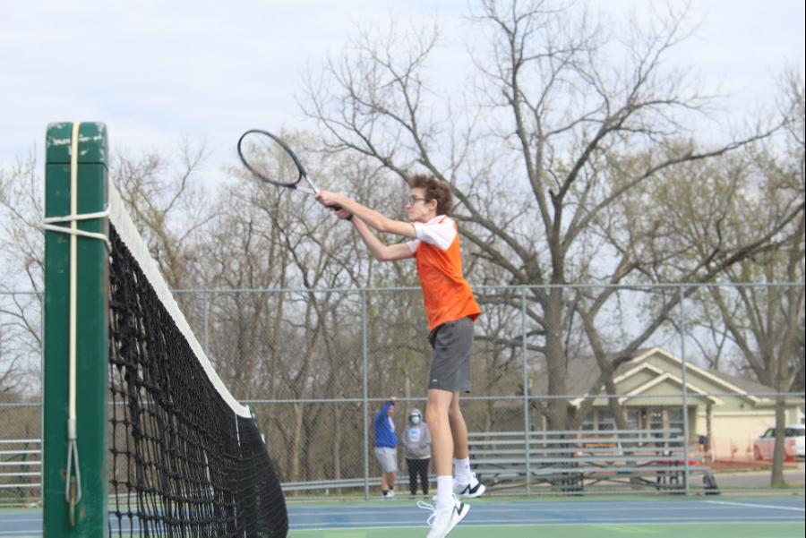 Boys Tennis Takes On Bishop Miege